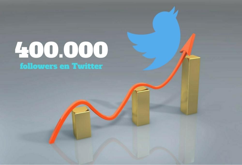 Como conseguir 400000 seguidores en Twitter en un mes